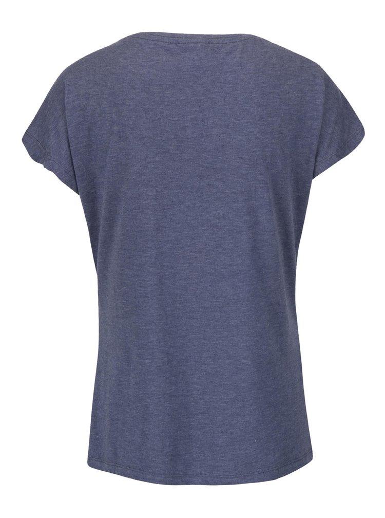 Modré žíhané tričko s potiskem VERO MODA Bella