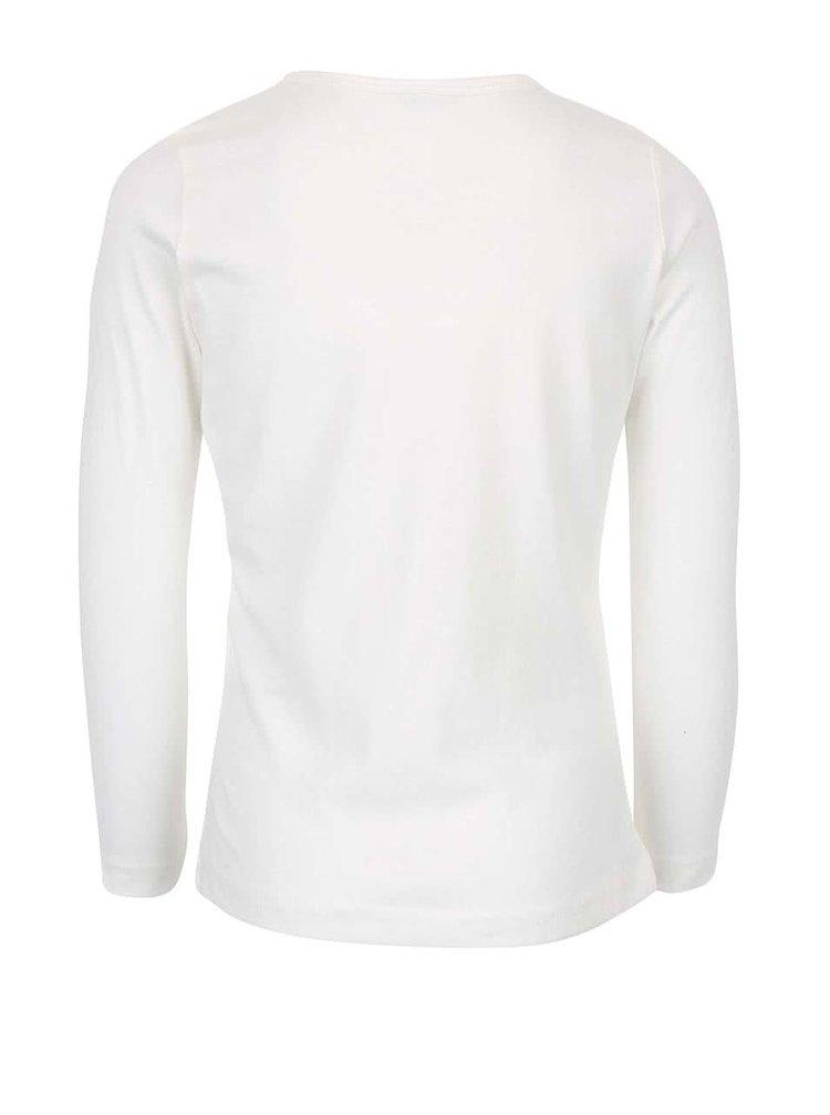 Krémové dievčenské tričko s potlačou Name it Veen