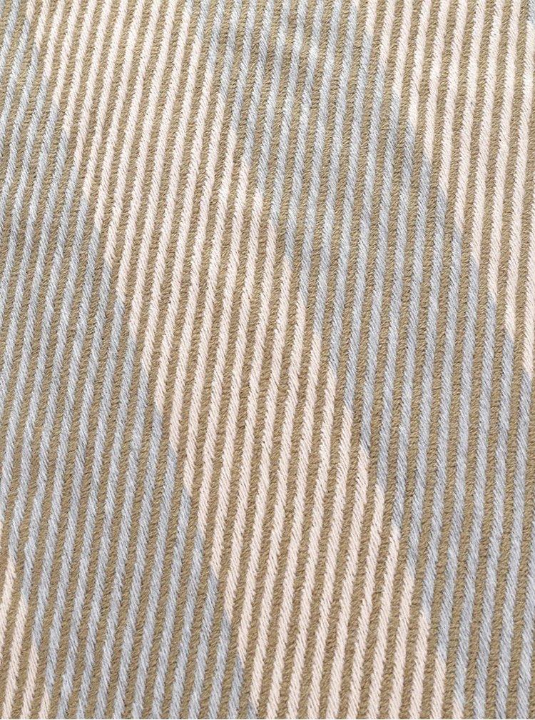 Zeleno-krémová pruhovaná šála VERO MODA Carina