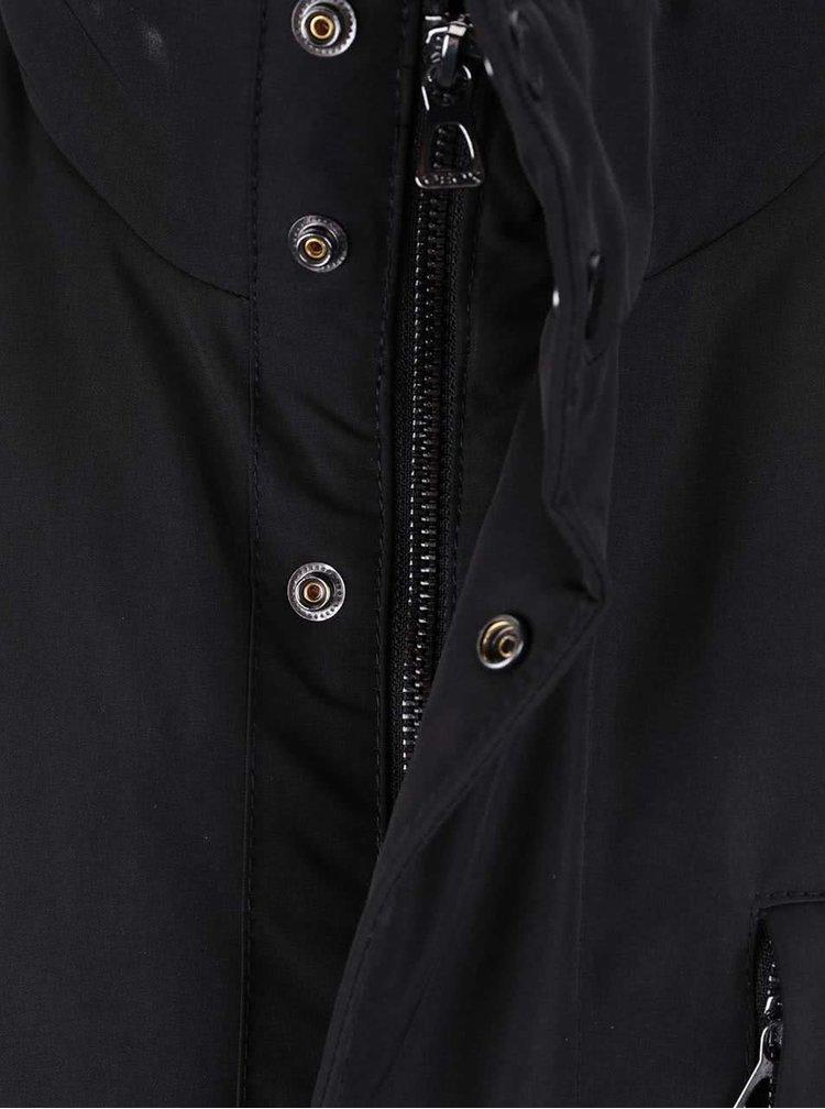 Černá pánská bunda s kapsami Geox