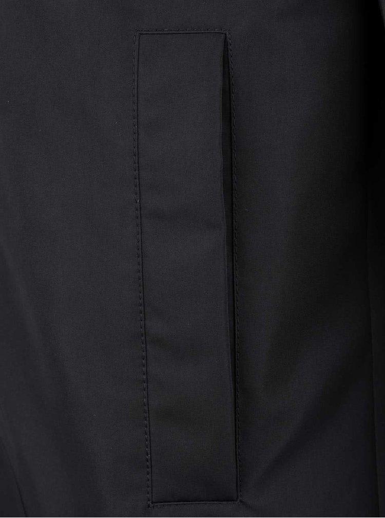 Černý pánský kabát Geox
