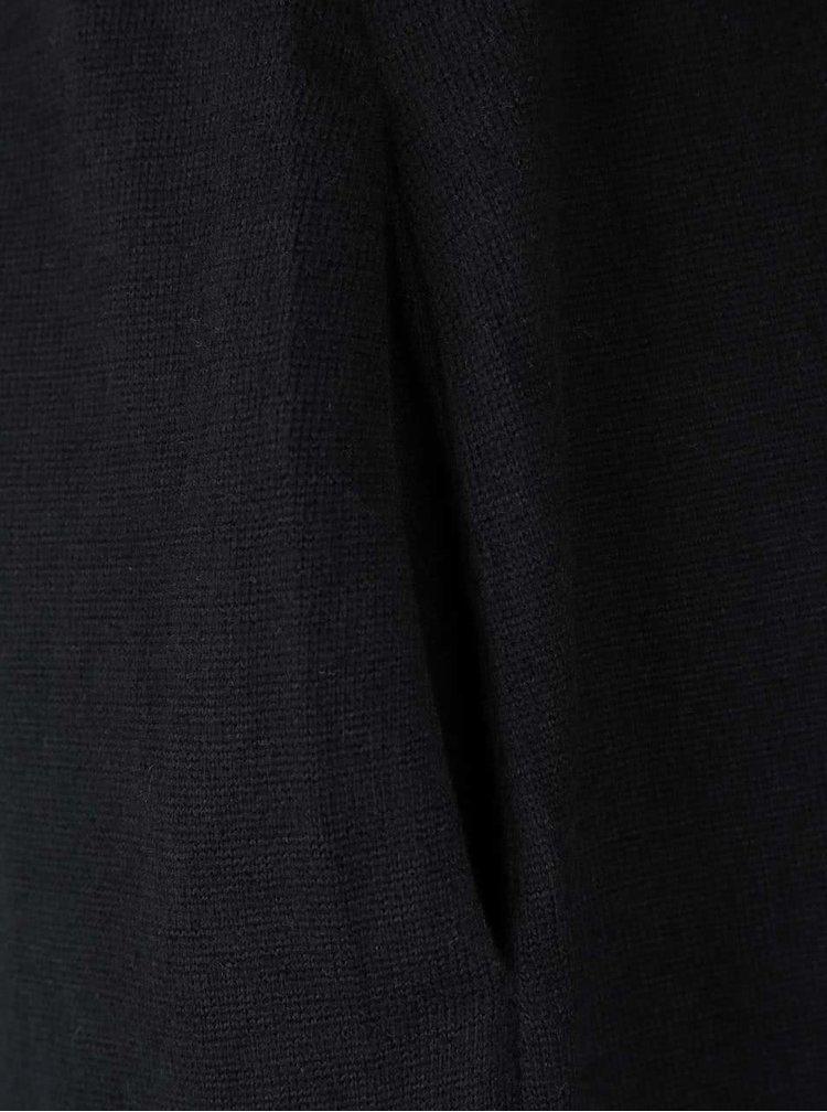 Cardigan negru VILA Lune cu cordon în talie