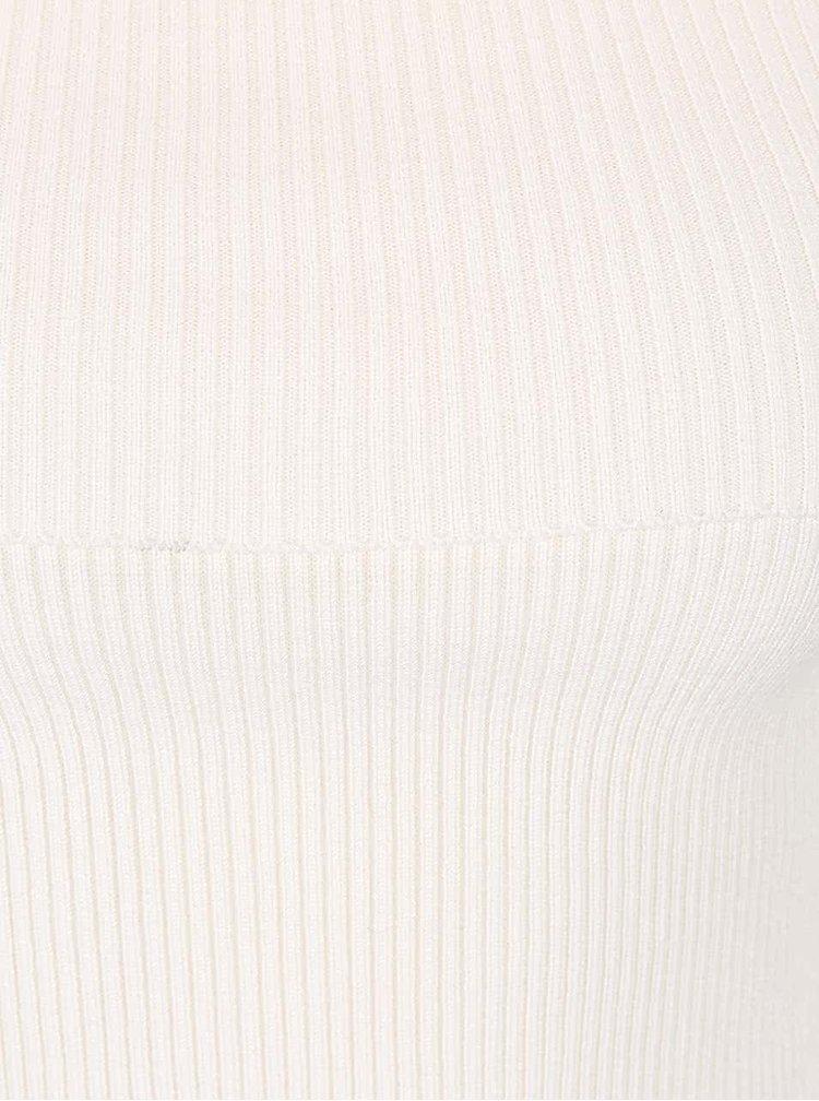 Krémový svetr s lodičkovým výstřihem Noisy May Magenta
