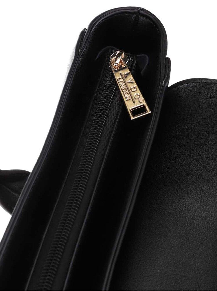 Šedo-černá větší kabelka LYDC