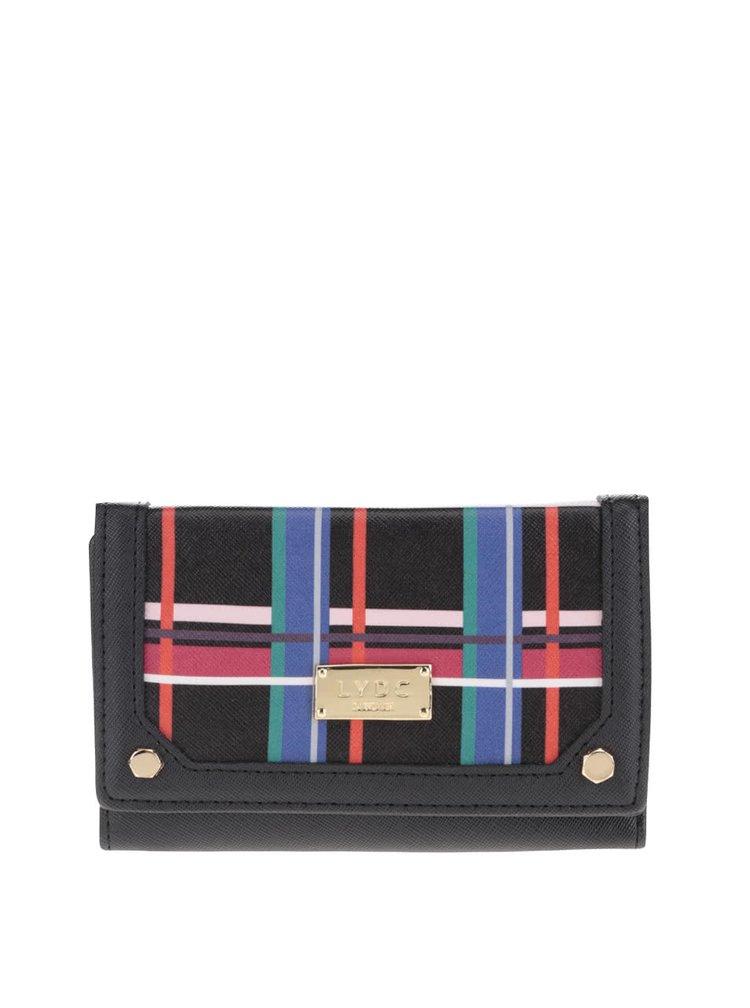 Černo-červená kostkovaná peněženka LYDC