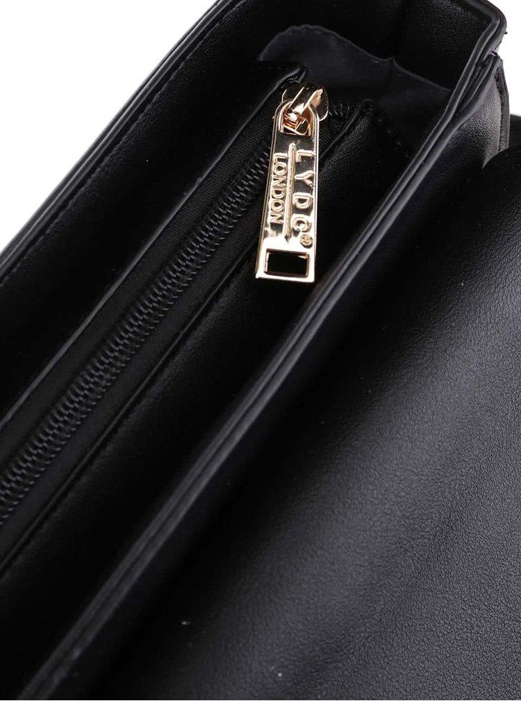 Černo-krémová crossbody kabelka LYDC