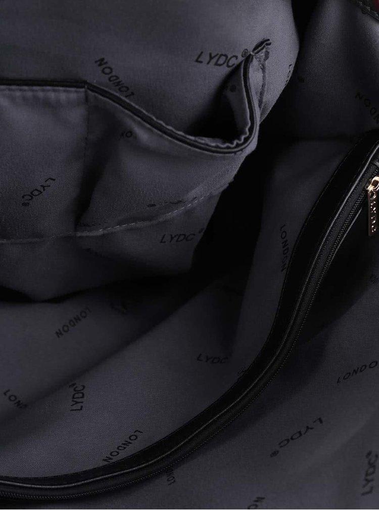 Černo-vínová velká kabelka LYDC
