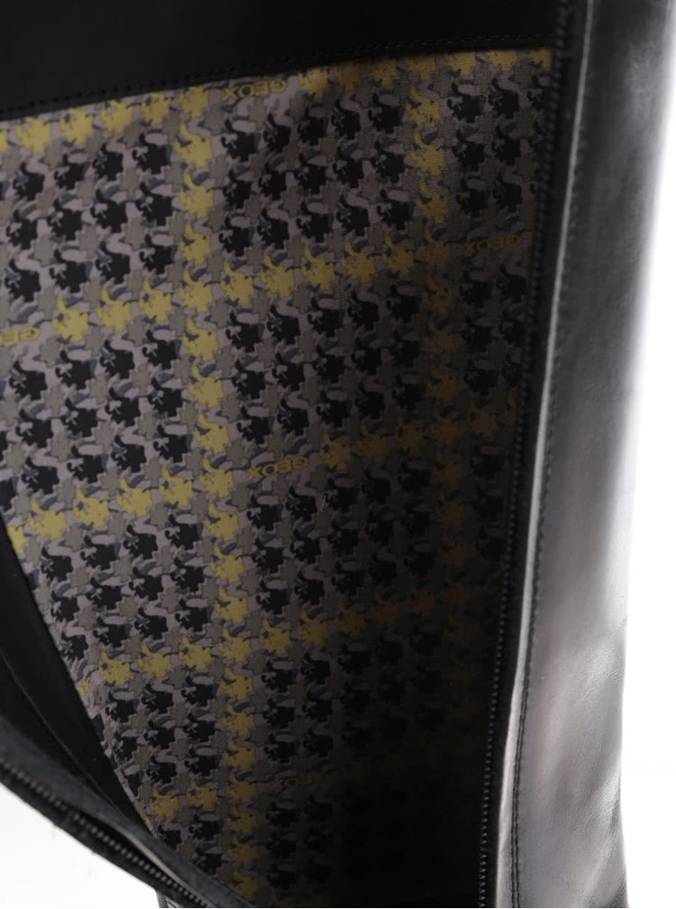 Cizme negre Geox Donna Mendit din piele