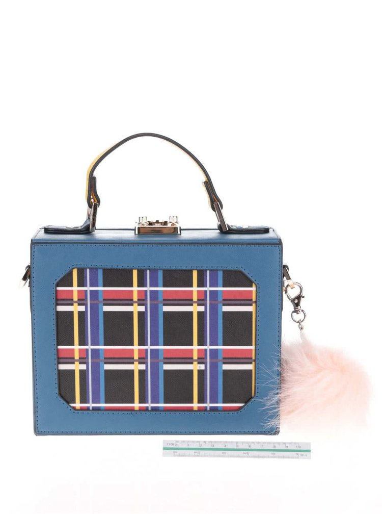 Žluto-modrá menší kabelka LYDC