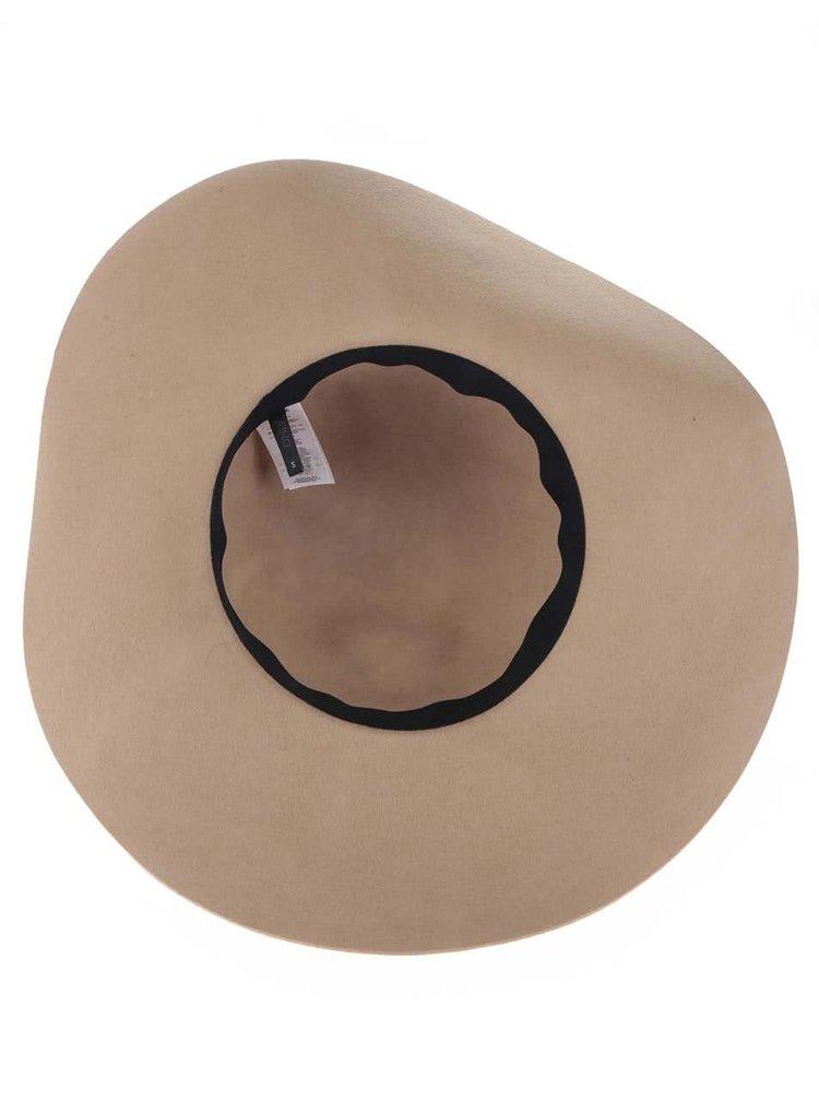 Béžový vlnený klobúk s detailmi ONLY Ohio