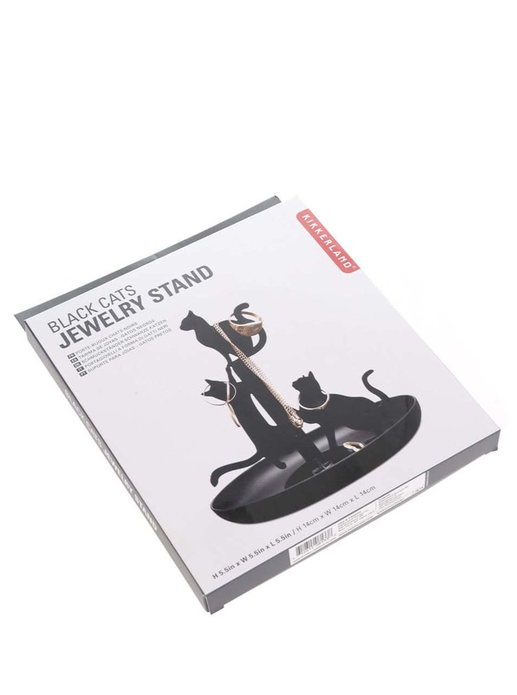 Suport de bijuterii negru Kikkerland Cat