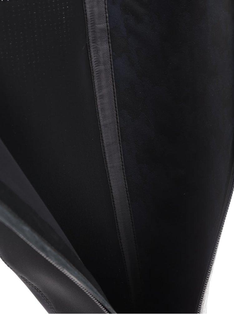 Černé kožené kozačky s elastickým pásem Geox Inspiration Stiv