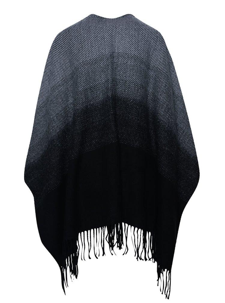Poncho negru cu gri ONLY Soby