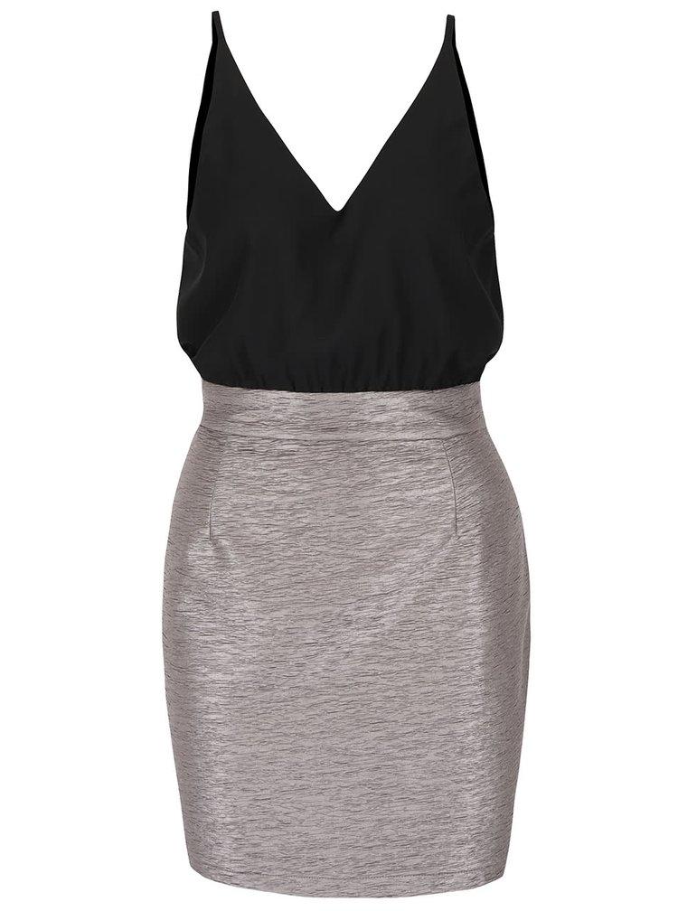 Čierno-sivé šaty AX Paris