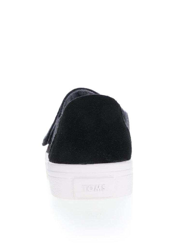 Čierne dámske topánky Toms