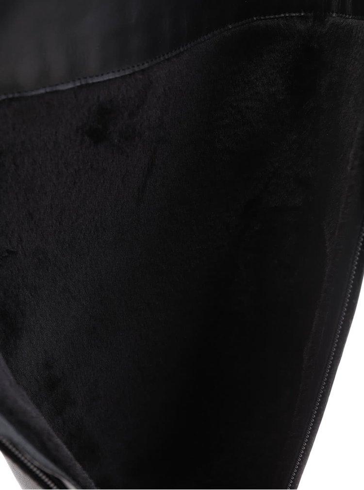 Cizme negre din piele naturală Geox Felicity