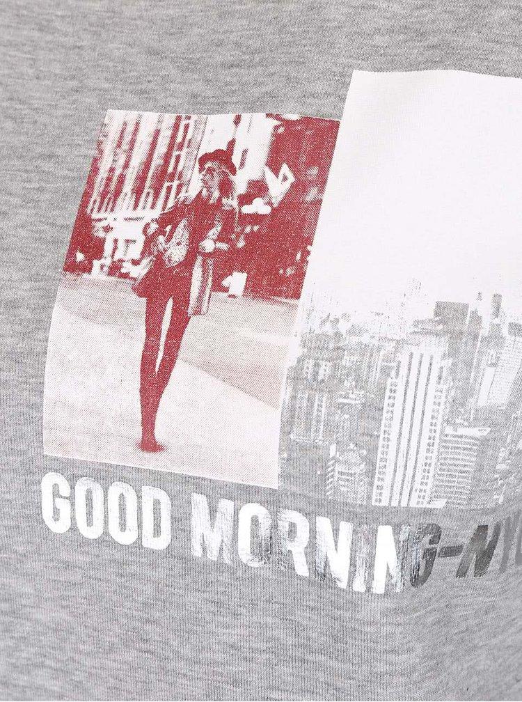 Bluză gri TALLY WEiJL cu print