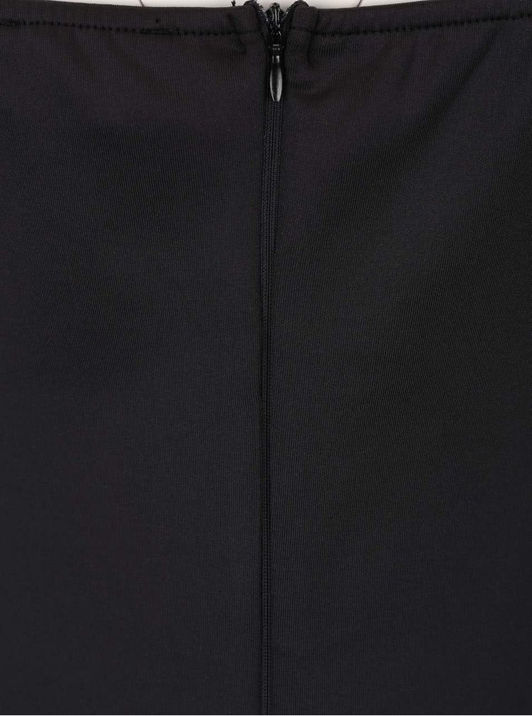 Čierne šaty s čipkovaným vzorom AX Paris