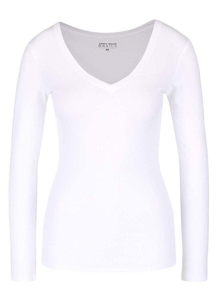 Bílé tričko s dlouhým rukávem TALLY WEiJL