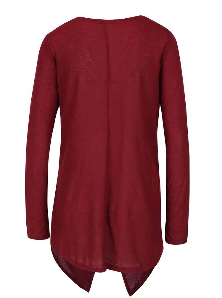 Vínové tričko s cípy ONLY Palma