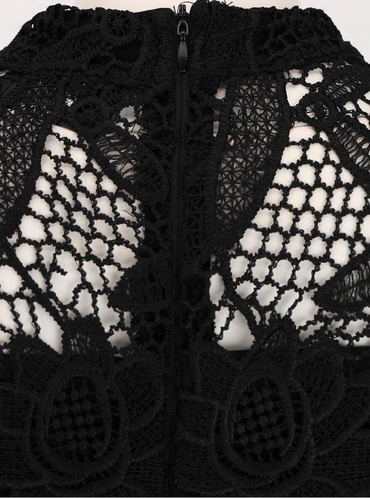 Čierne šaty zdobené čipkou AX Paris