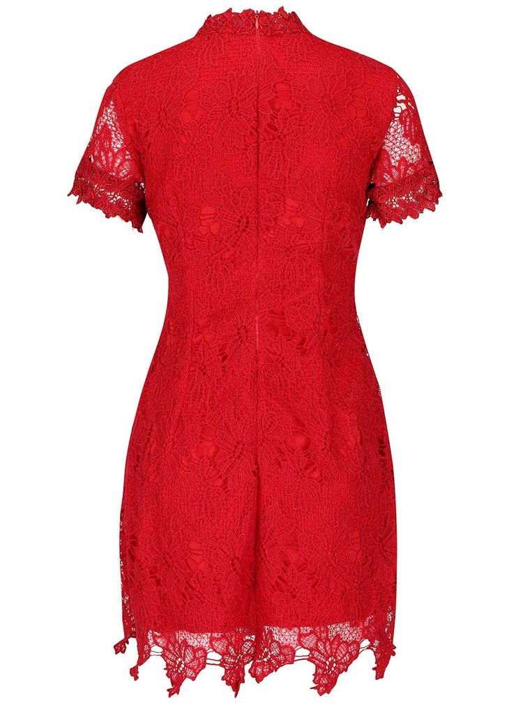 Rochie roșie AX Paris din dantelă