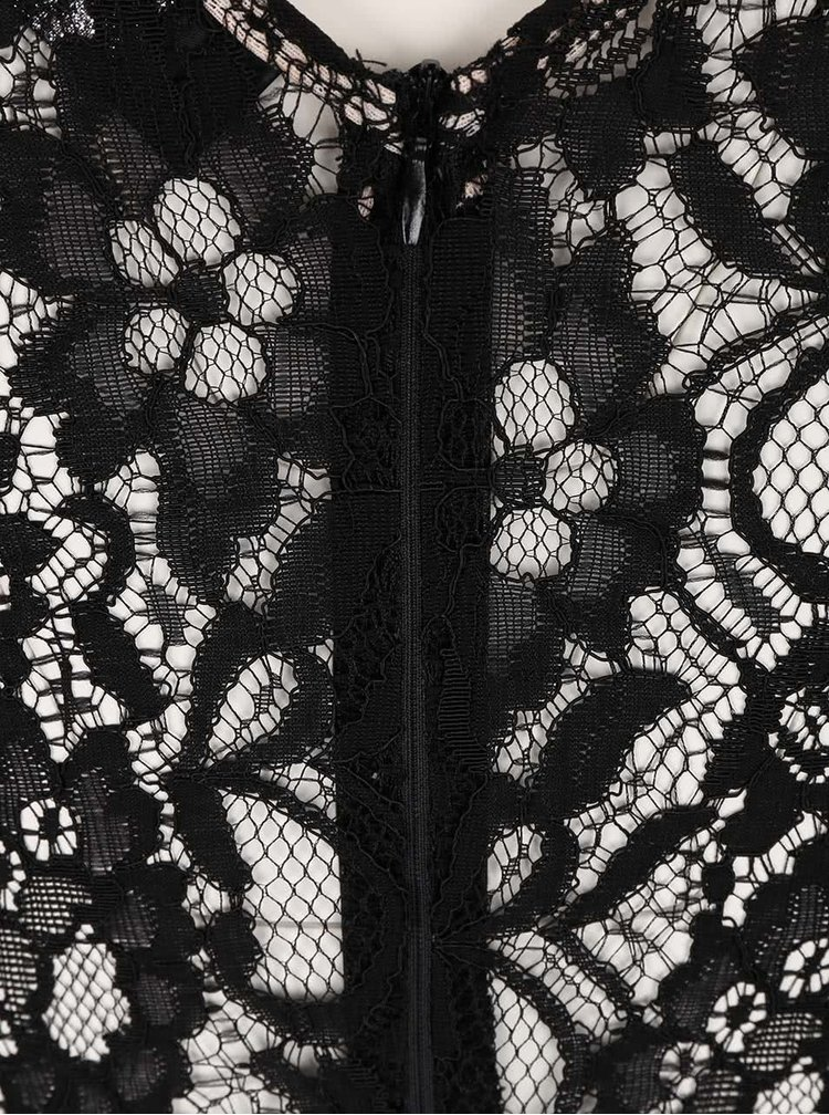 Rochie neagra cu bej AX Paris din dantela si plasa