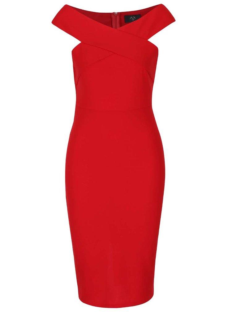 Červené priliehavé šaty AX Paris