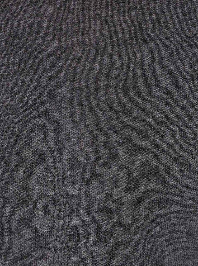 Tmavosivé melírované tričko s prestrihmi na chrbte ONLY Kikki