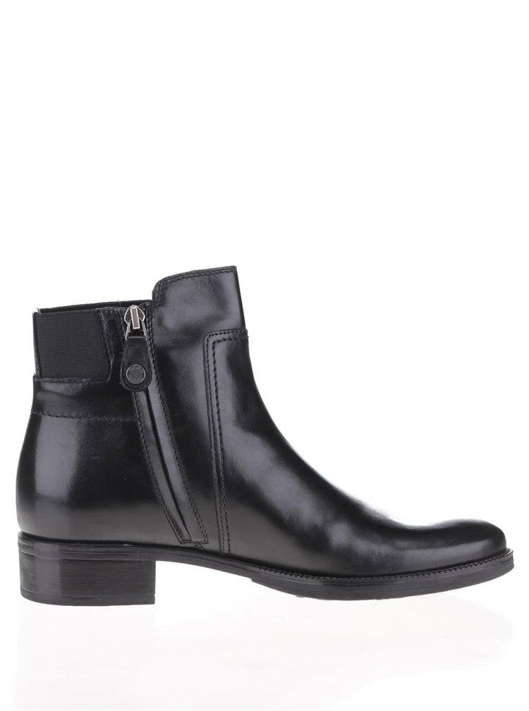 Černé dámské kotníkové chelsea boty Geox Mendi