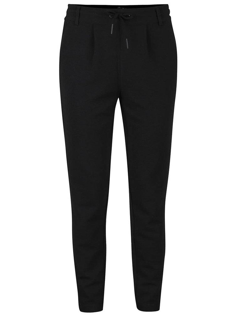 Černé strukturované kalhoty ONLY Poptrash