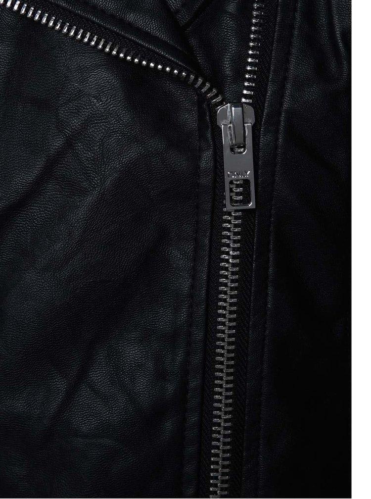 Černý koženkový křivák ONLY File