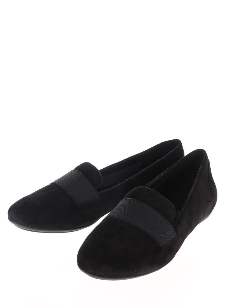 Pantofi loafer negri Geox Charlene