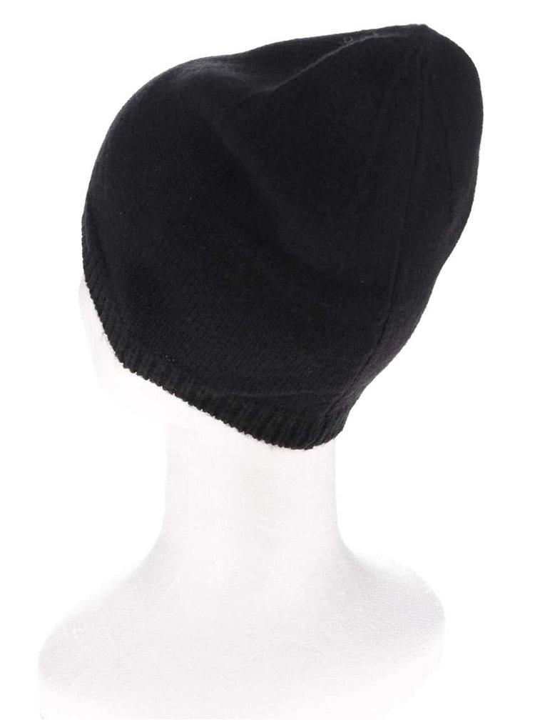 Čierna vlnená čiapka ONLY Sally