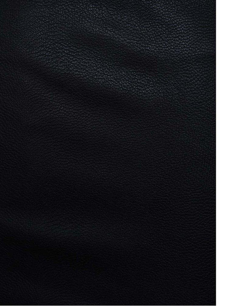Fustă bodycon neagră ONLY Celina piele sintetică