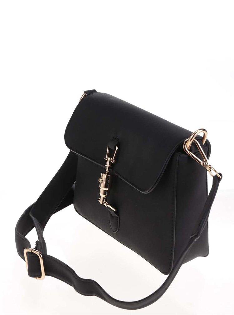 Čierna crossbody kabelka s detailmi v zlatej farbe ONLY Suna