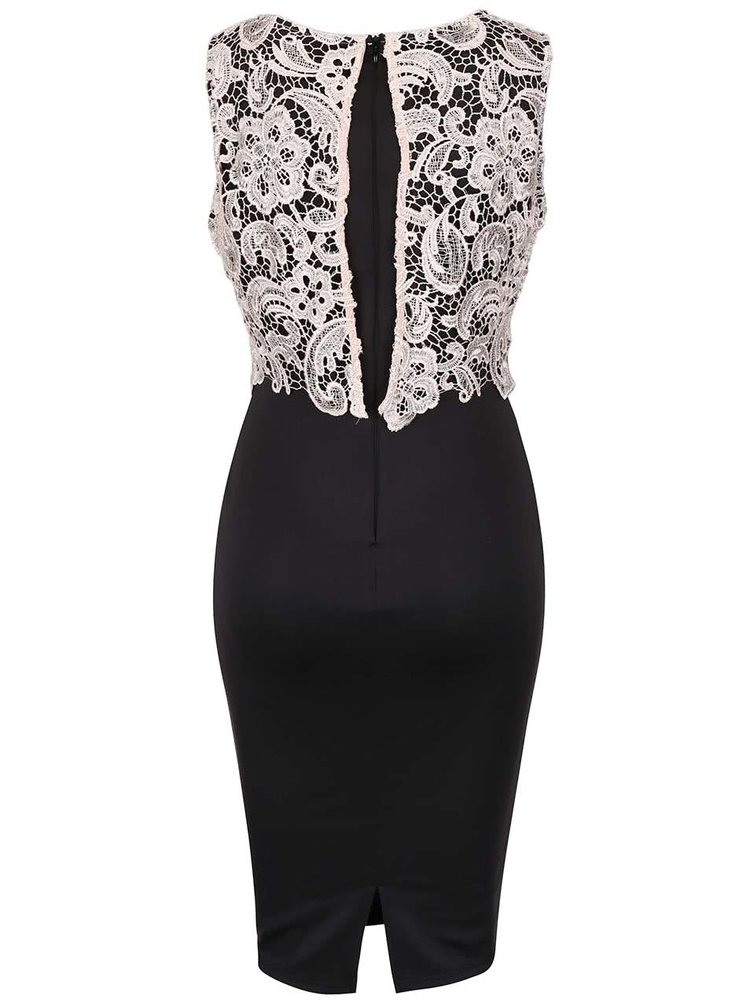 Rochie neagră AX Paris cu detalii din macrame