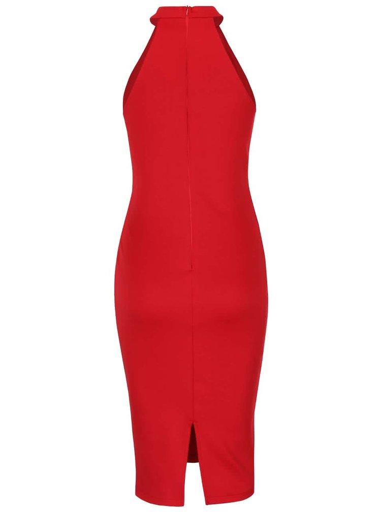 Červené šaty s hlbokým výstrihom AX Paris