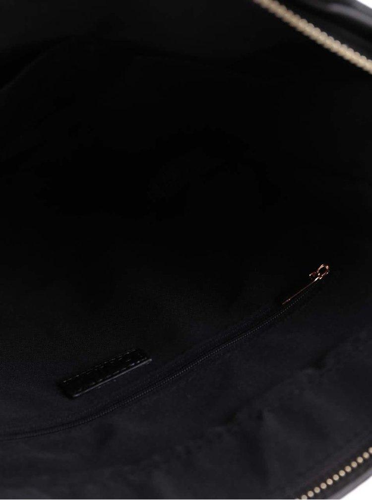Čierny shopper so zipsom a detailmi v zlatej farbe ONLY Alse