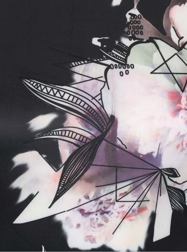 Rochie neagră bodycon AX Paris cu model floral