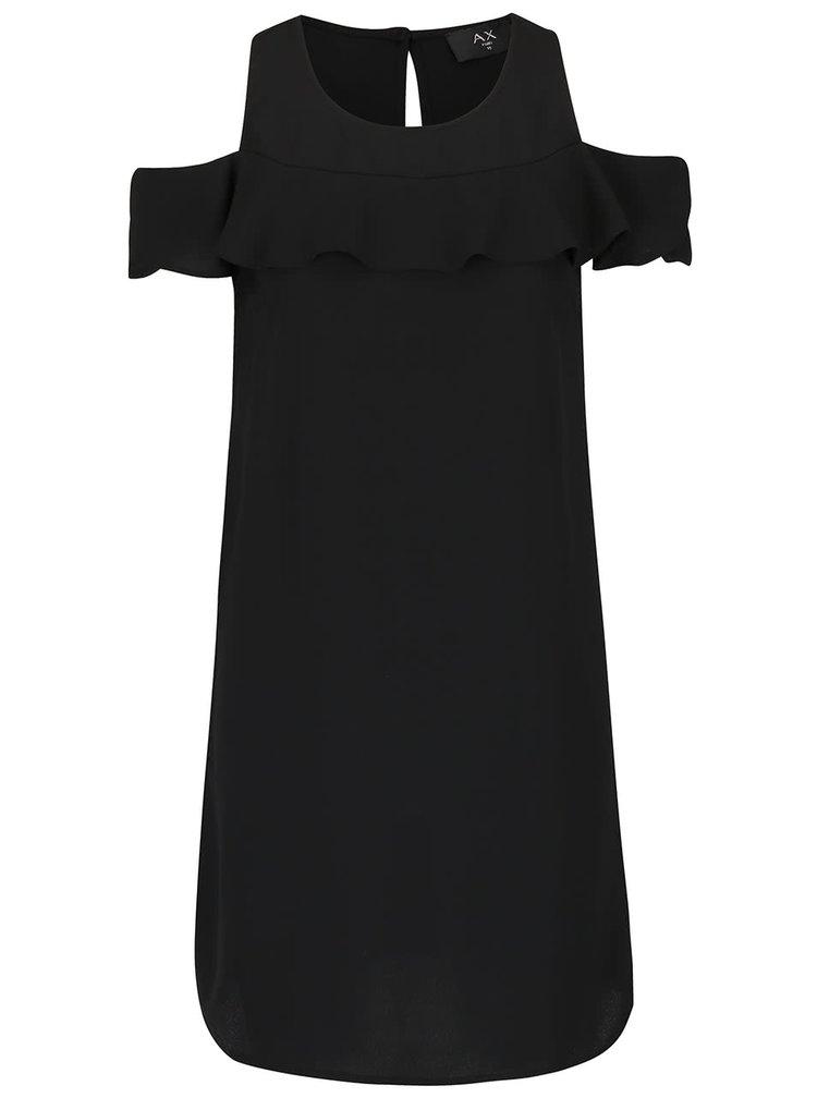 Čierne šaty s volánom AX Paris
