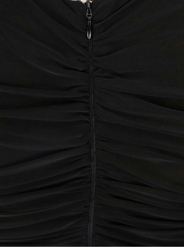 Čierne nariasené maxišaty AX Paris