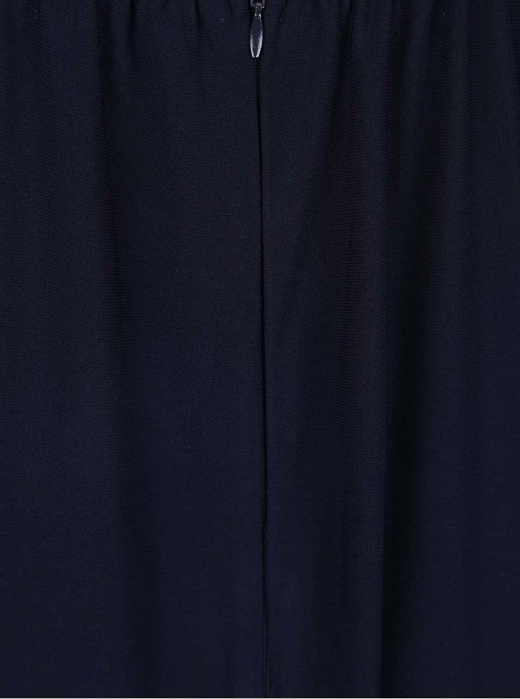 Tmavomodré maxišaty s hlbším výstrihom AX Paris