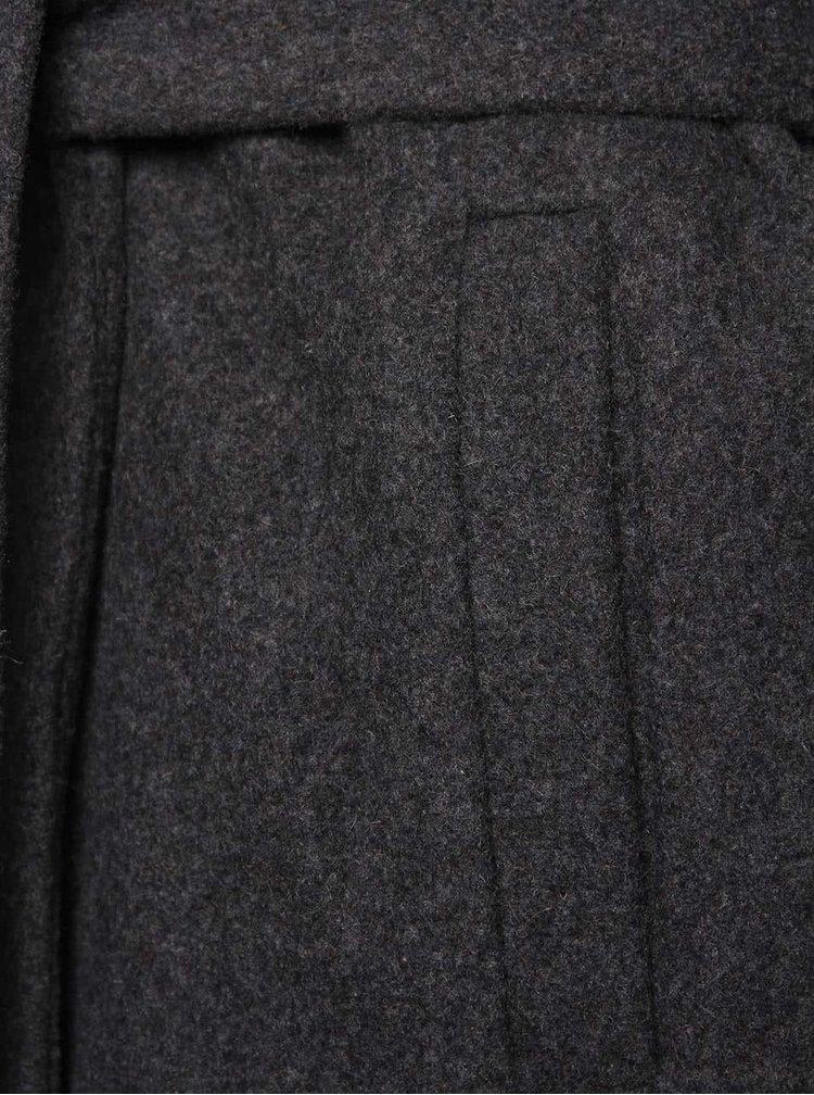 Tmavě šedý kabát ICHI Sebba