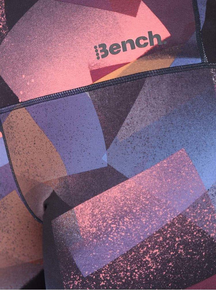 Colanți albaștri & negri Bench Dominant cu motive geomtrice