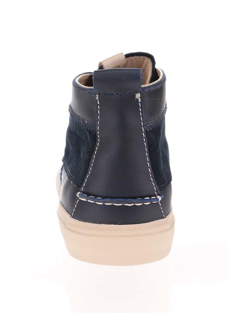 Tmavomodré pánske semišové členkové topánky Pointer Roger