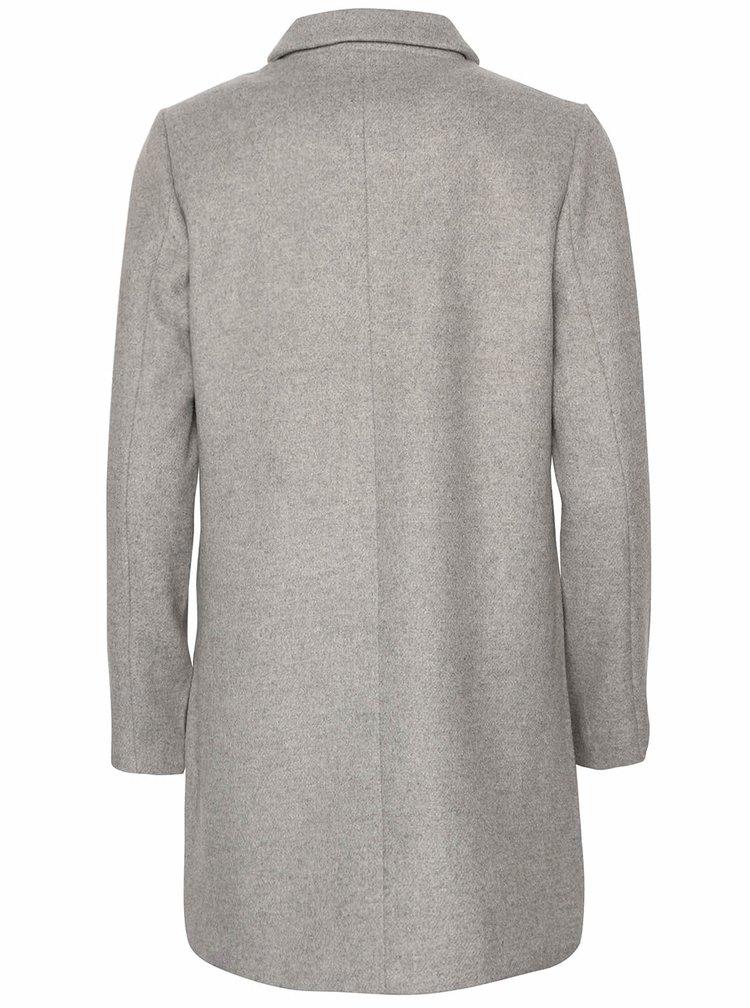 Šedý kabát ICHI Toffa