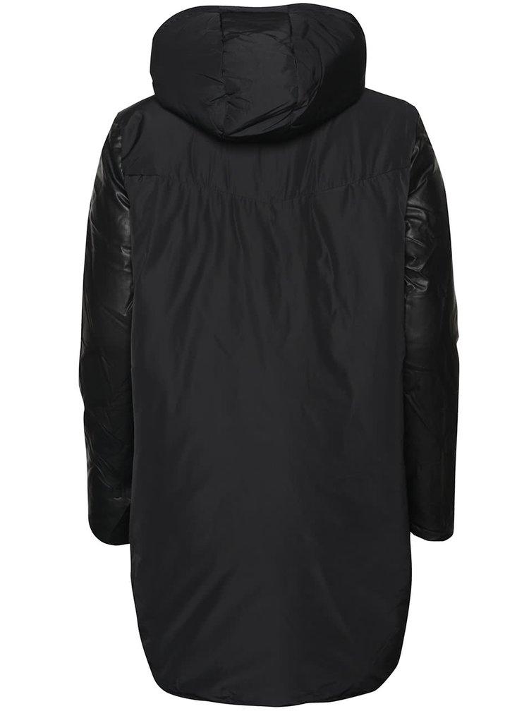 Černá dlouhá bunda ICHI Sakse