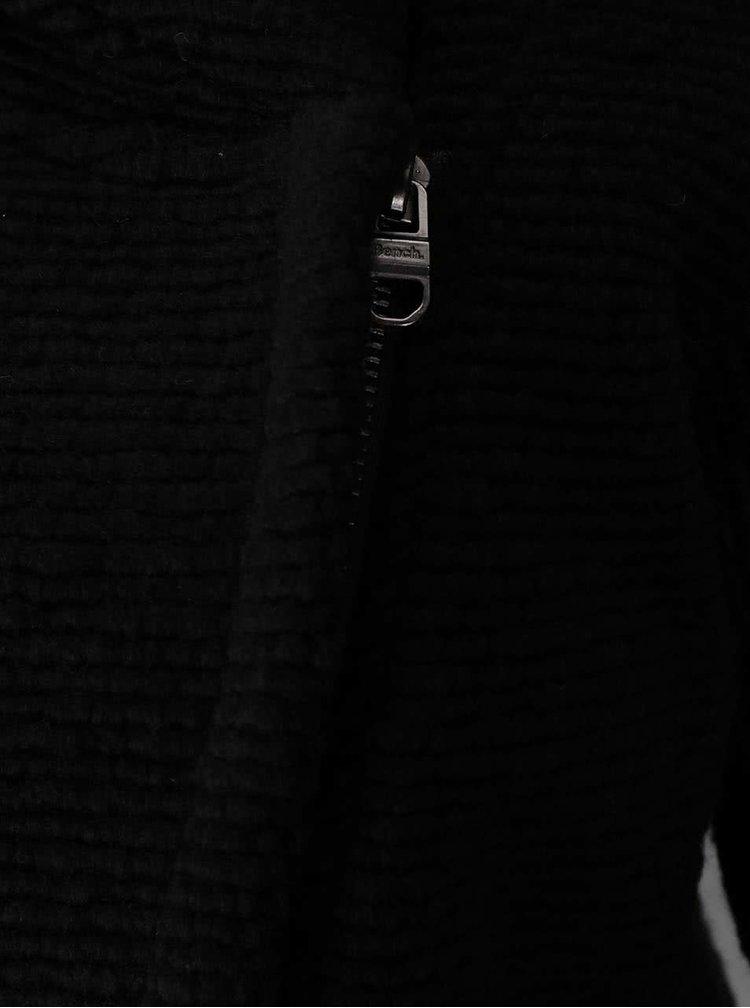 Hanorac negru Bench Rhetoric cu închidere asimetrică