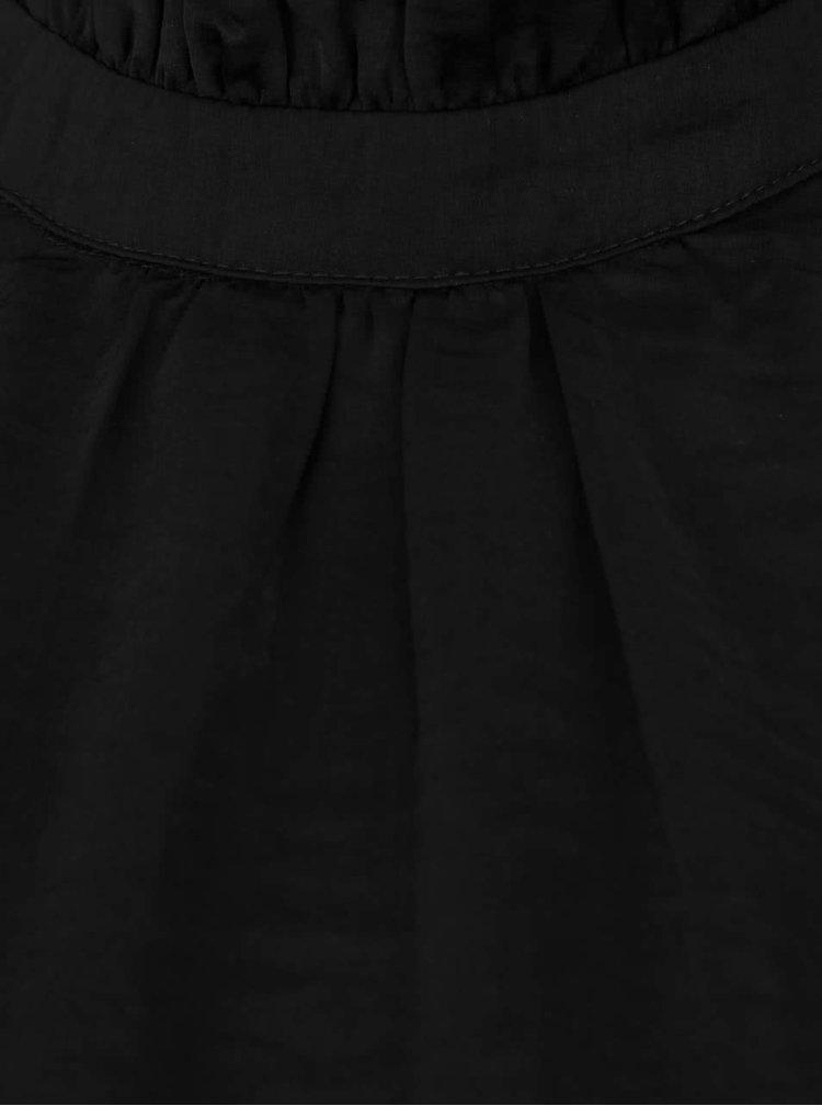 Černá halenka se stojáčkem ICHI Collir